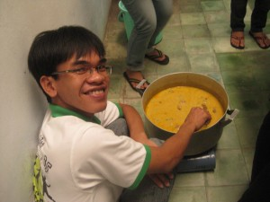 Vietnamese Student Cooking Chicken Curry